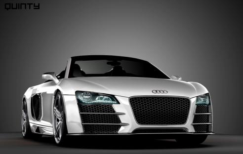 Audi-r8-cabrio-wit