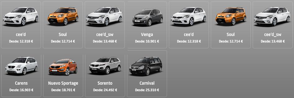 Precios coches Kia 2012