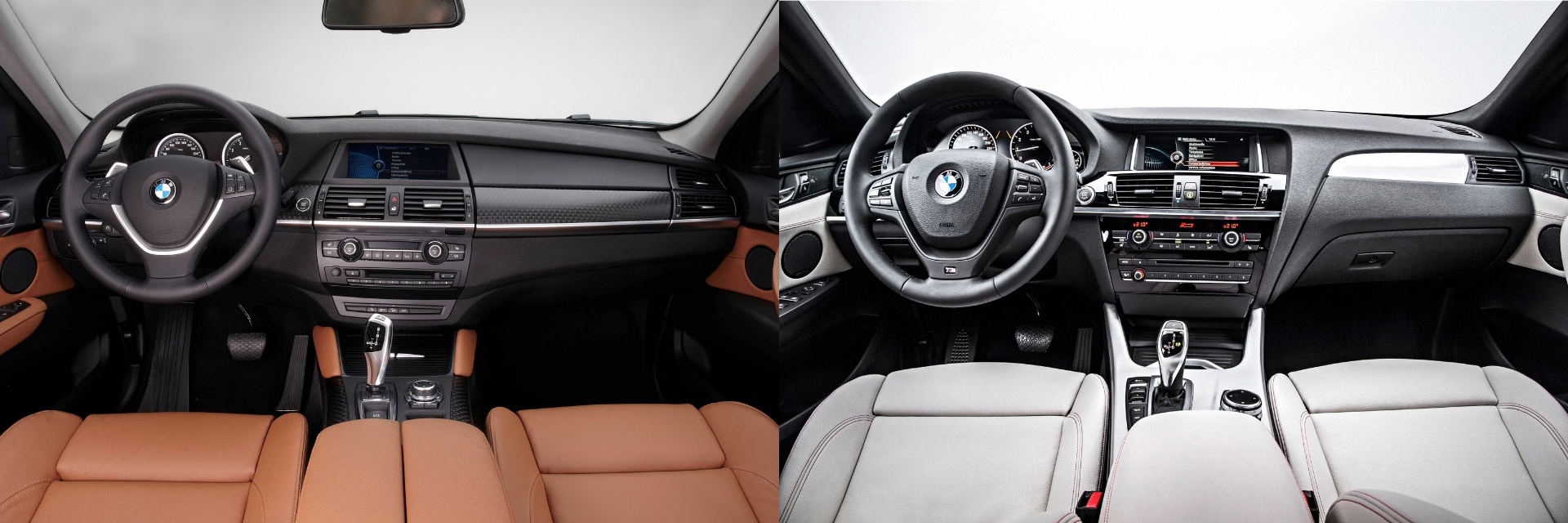 BMW X6 BMW X4 comparativa interior