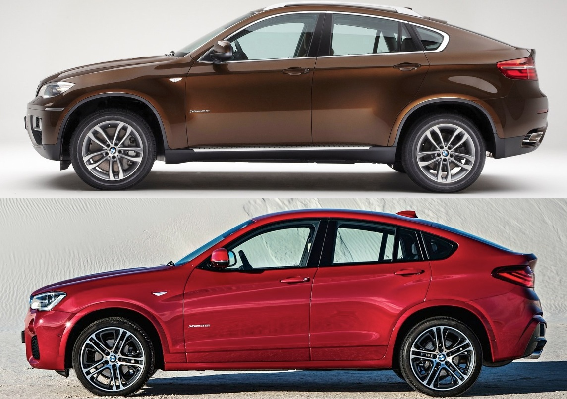 BMW X6 BMW X4 comparativa lateral