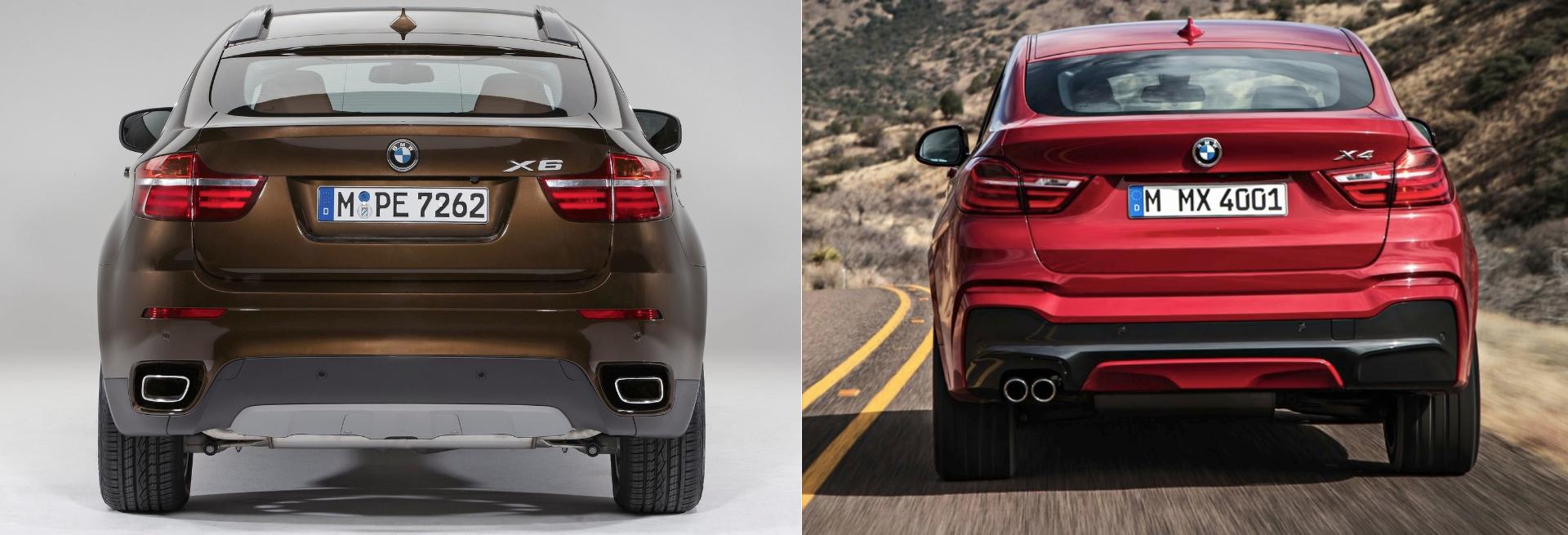 BMW X6 BMW X4 comparativa zaga