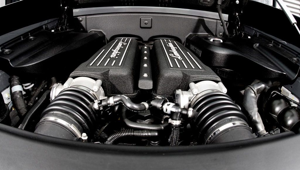 motor del Lamborghini Gallardo