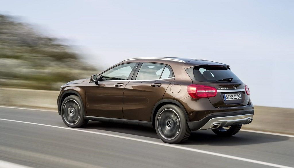 Mercedes GLA en movimiento