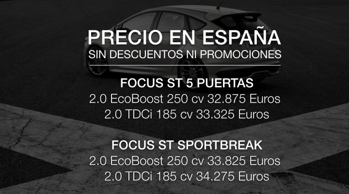 precios focus st 2015 espana