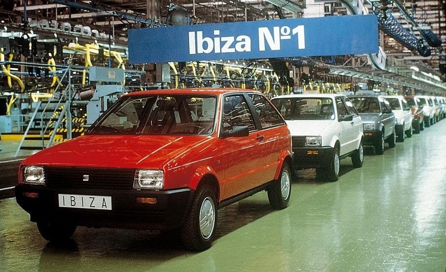 Seat Ibiza primera generacion fabrica