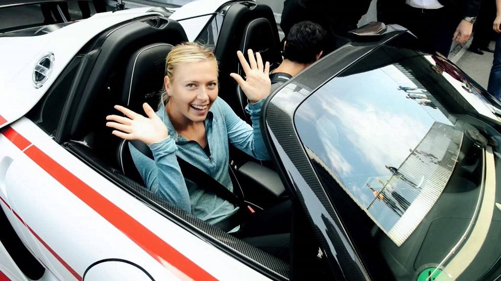Sharapova Webber Porsche