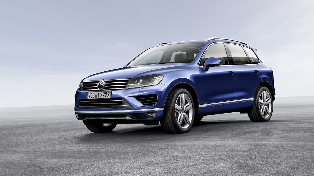 Volkswagen Touareg 2014 azul