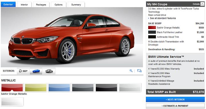 configurador BMW M exterior