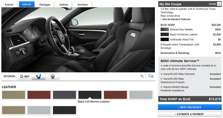 configurador BMW M interior