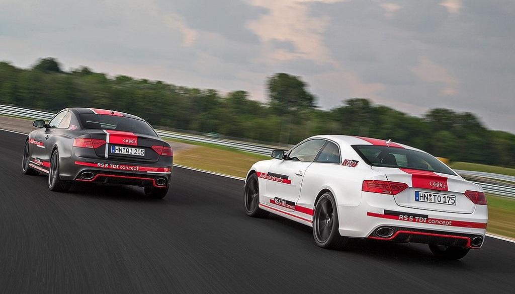 Audi RS5 TDI Concept blanco y negro