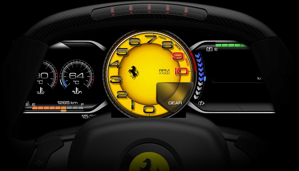 Ferrari LaFerrari cuadro de instrumentos