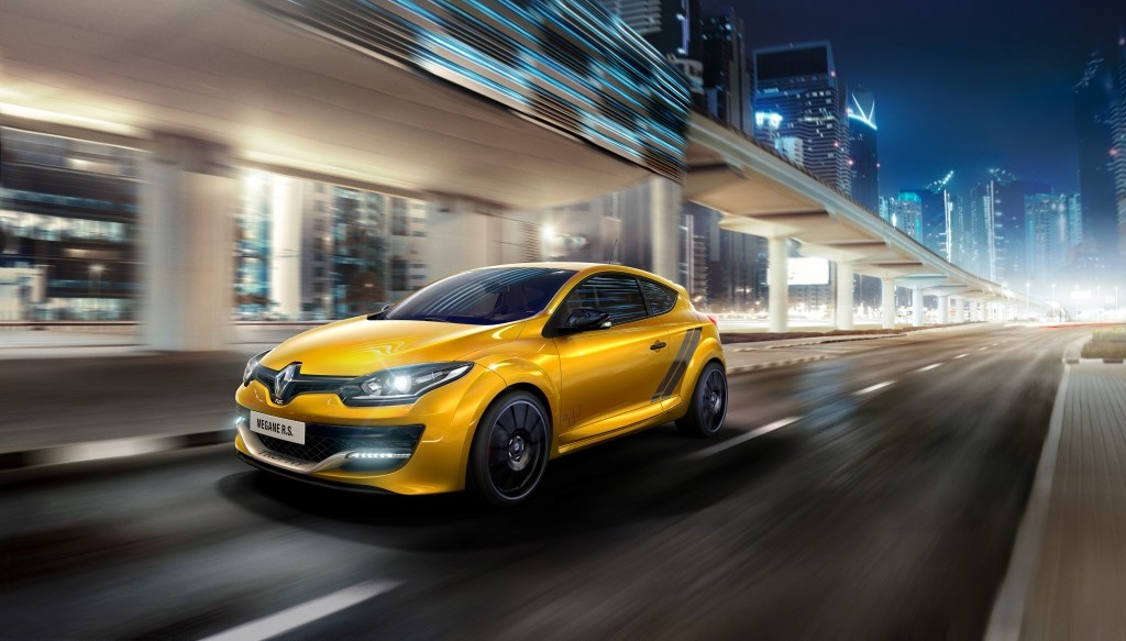 Megane RS 275 Trophy amarillo