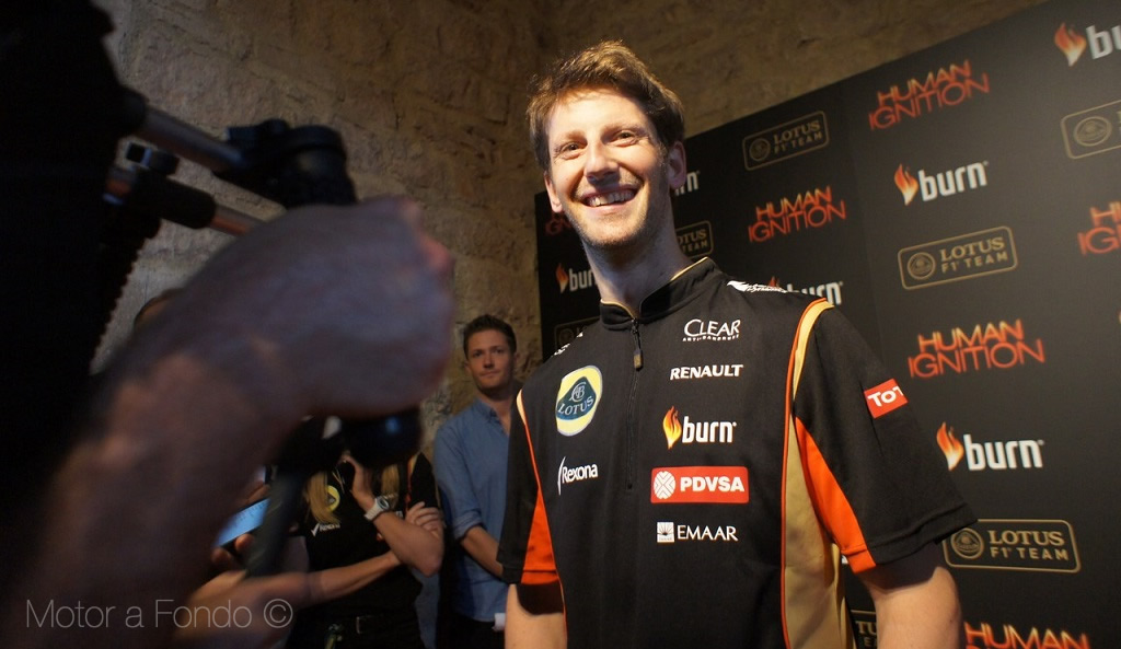 Romain Grosjean en Human Ignition