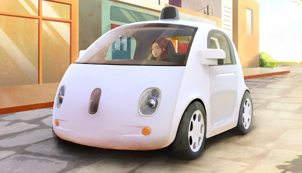 coche de google dibujo