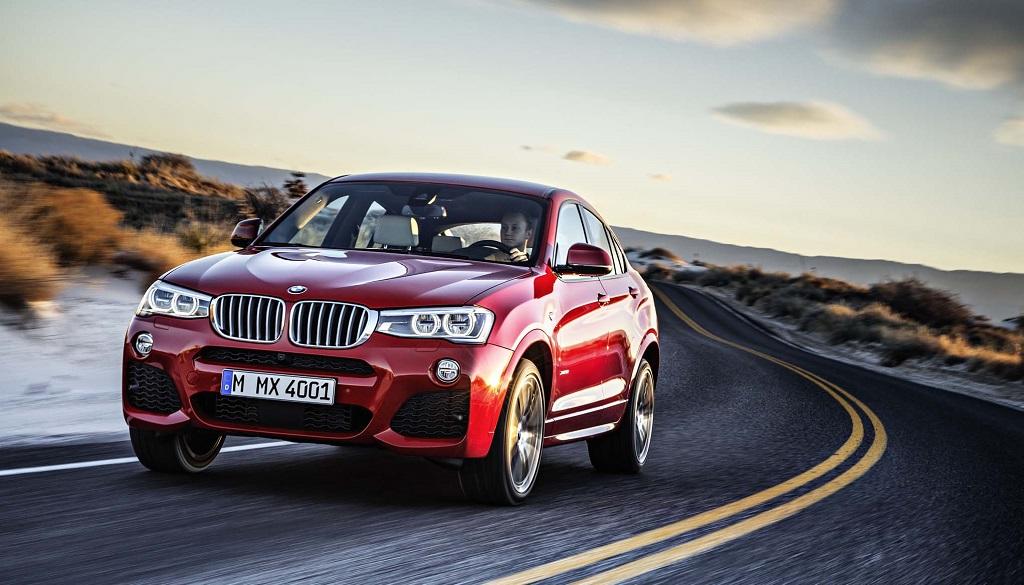 BMW X4 rojo