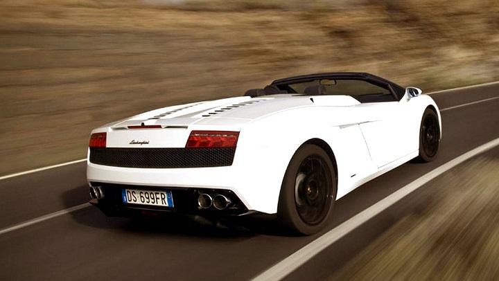 Lamborghini Gallardo Spyder blanco