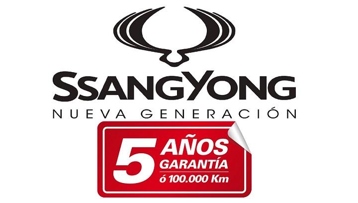 Logo SsangYong 5 anos de Garantia