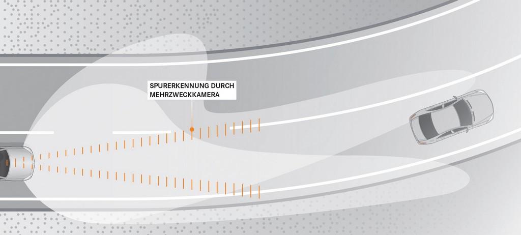 Mercedes-Benz Intelligent Light System. Grafik vorausschauendes Kurvenlicht