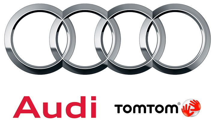logo audi y tomtom