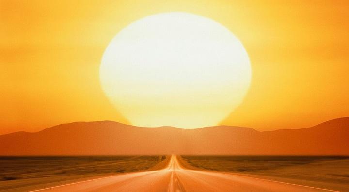 sol en carretera