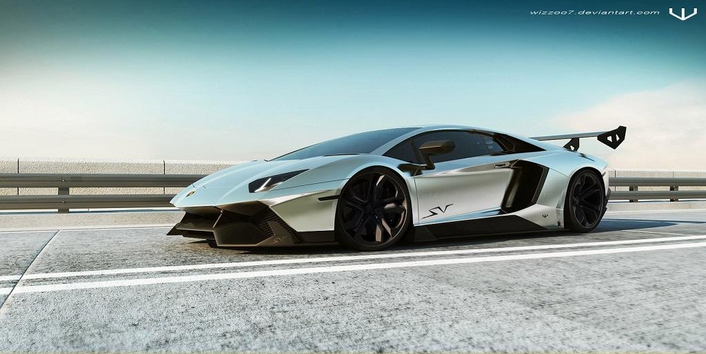 Lamborghini Aventador SV render