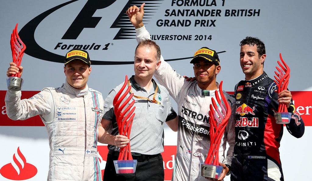 Podium GP Great Britain