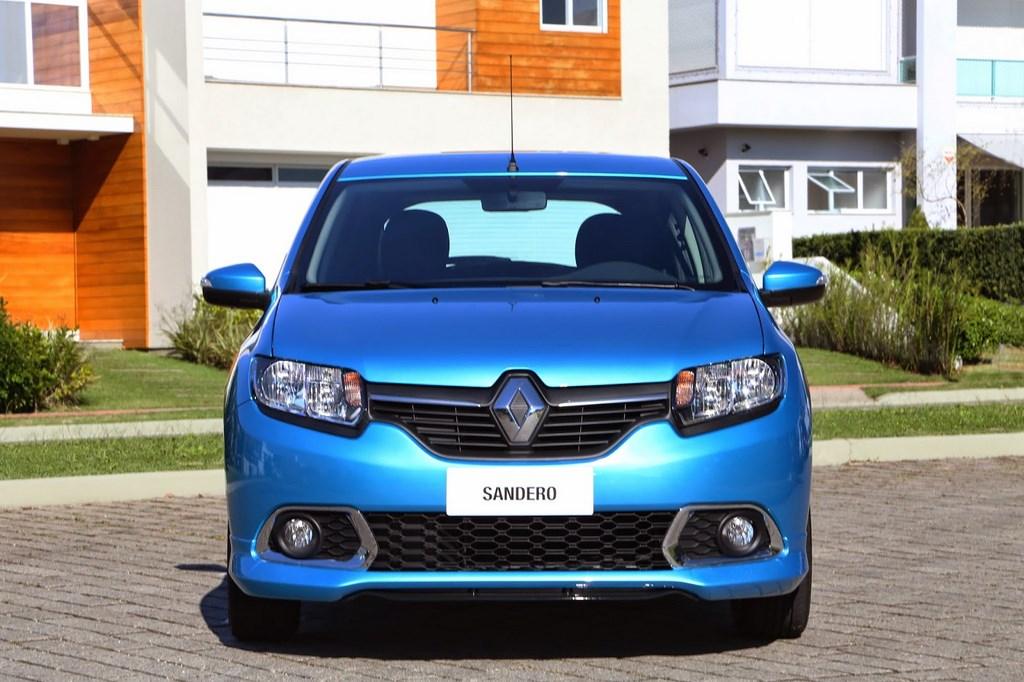 Renault Sandero 2015 Azul Frontal
