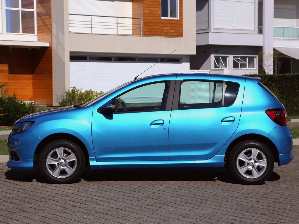Renault Sandero 2015 Azul Lateral