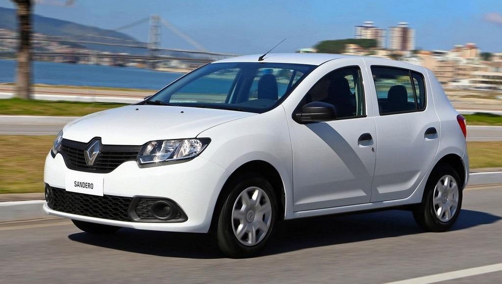 Renault Sandero 2015 blanco lateral