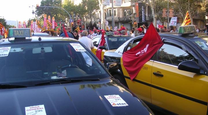 huelga taxi bcn