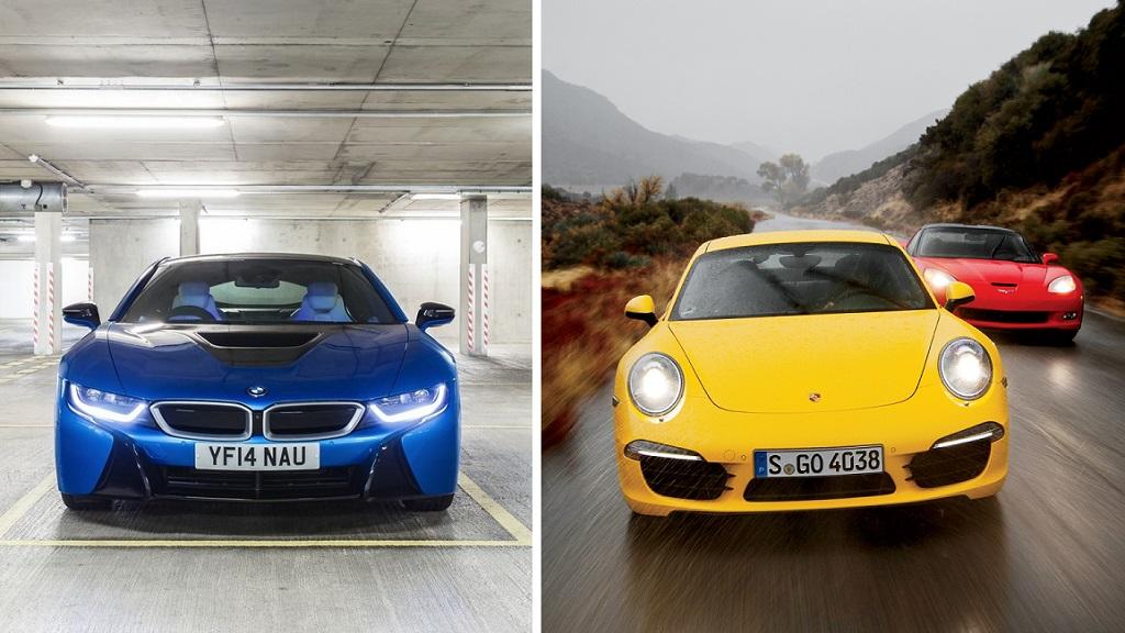 BMW i8 y Porsche 911 Carrera S