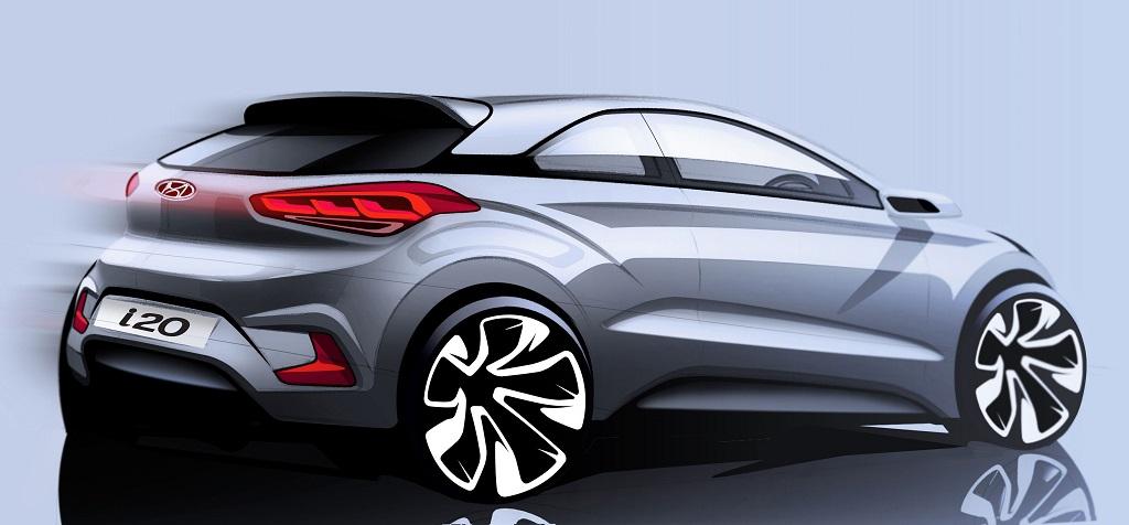 Hyundai i20 Coupe boceto