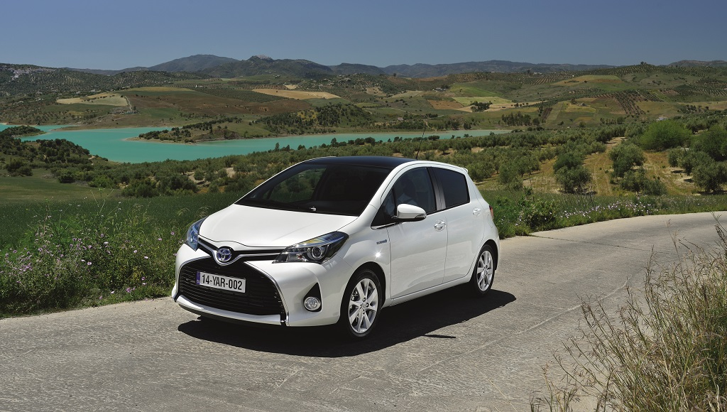 Toyota Yaris 2015 blanco