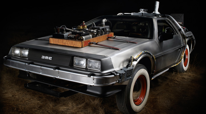 back to future delorean