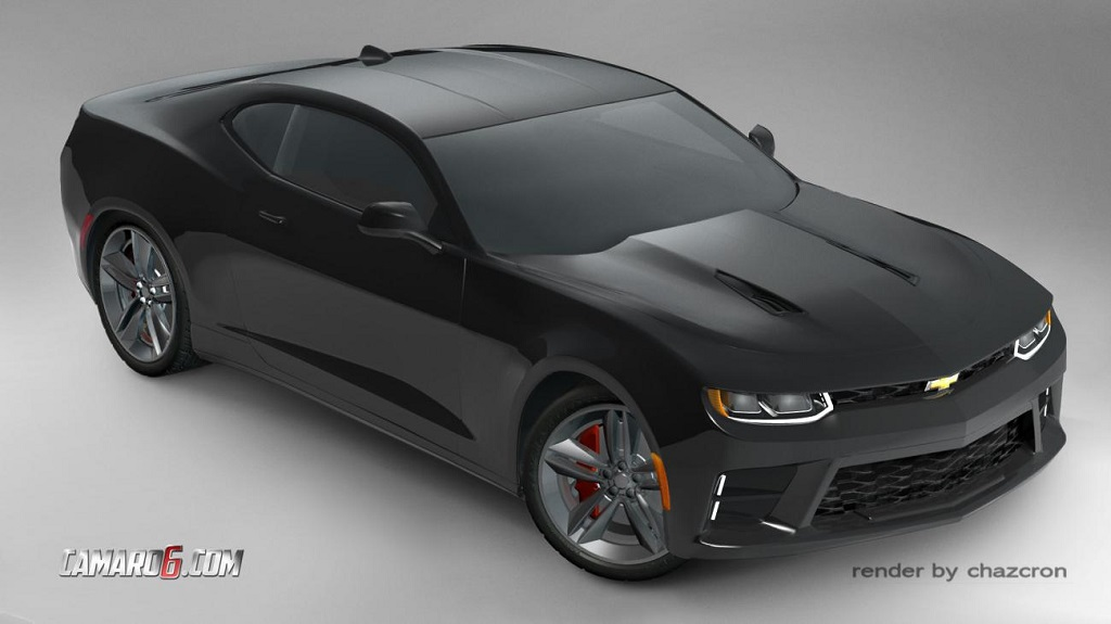 recreacion del 2016 Chevrolet Camaro