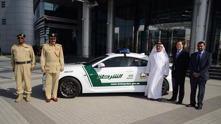 Lexus RC F Dubai Police 2