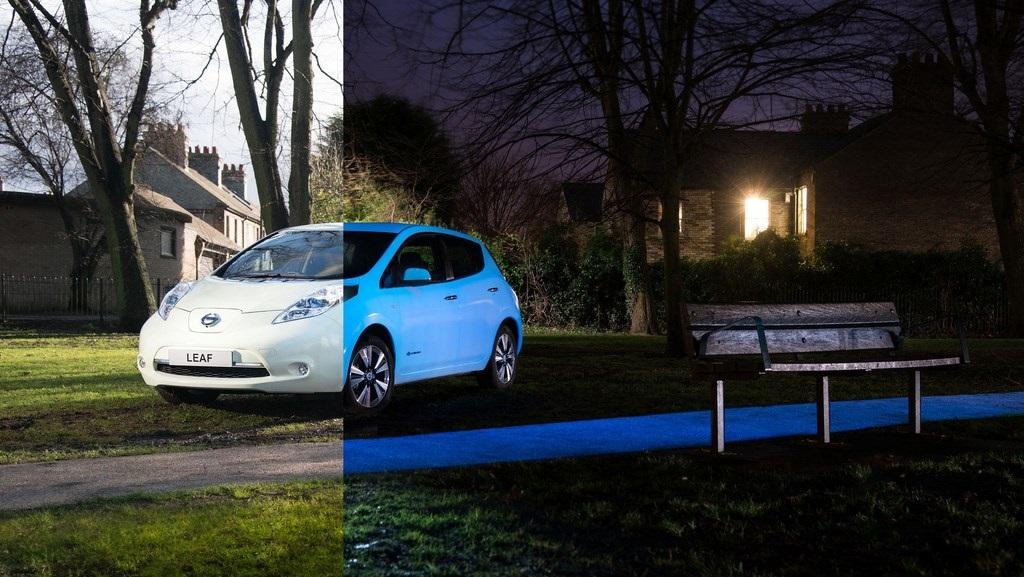 Nissan LEAF que brilla