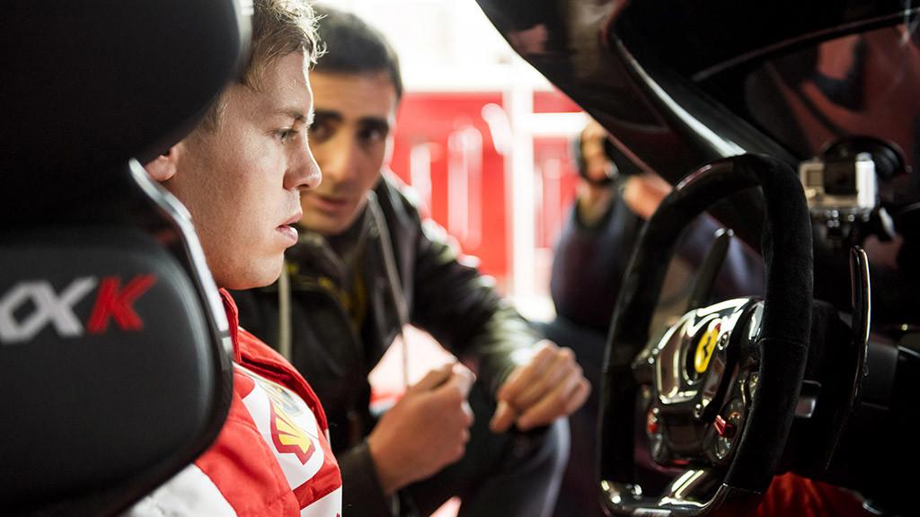 Sebastian Vettel en el Ferrari FXX K