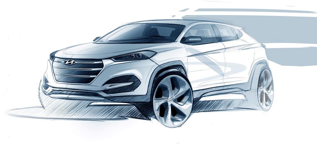 boceto del Hyundai Tucson