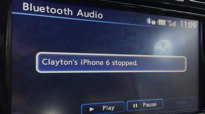 error emparejamiento bluetooth iphone6