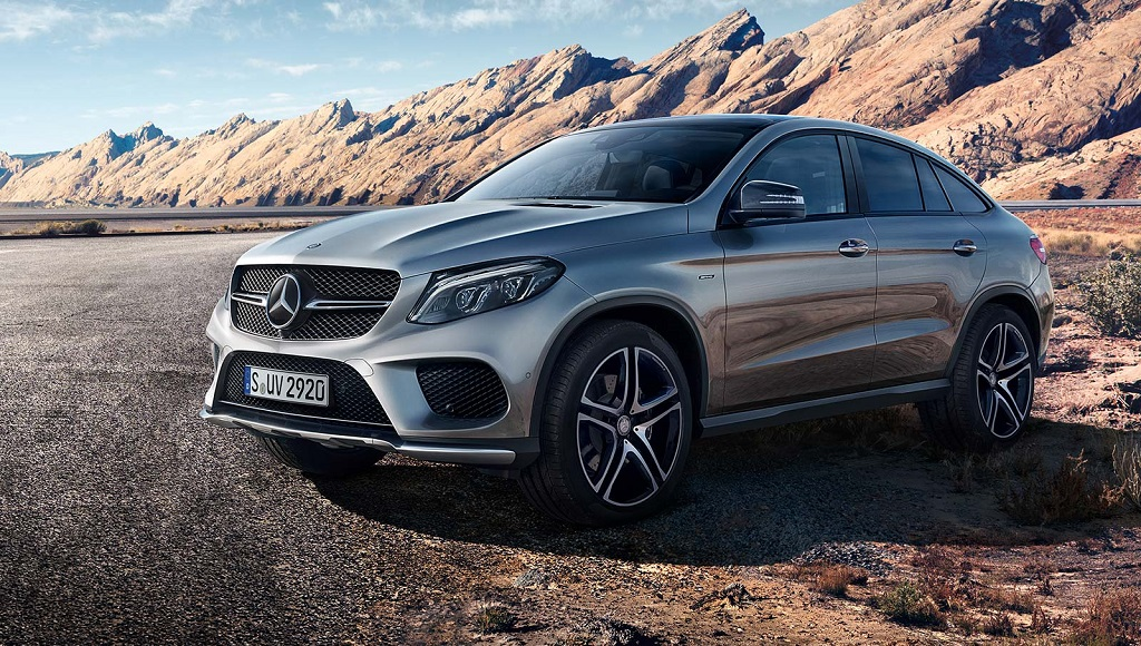 Mercedes-Benz GLE Coupe frontal tres cuartos