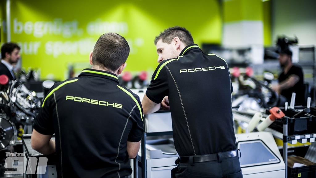 Porsche trabajadores