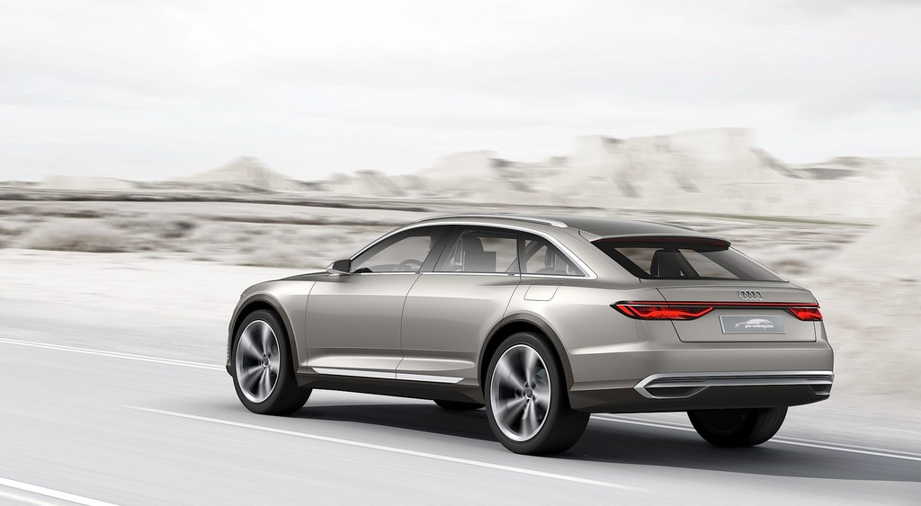 Audi prologue allroad en carretera