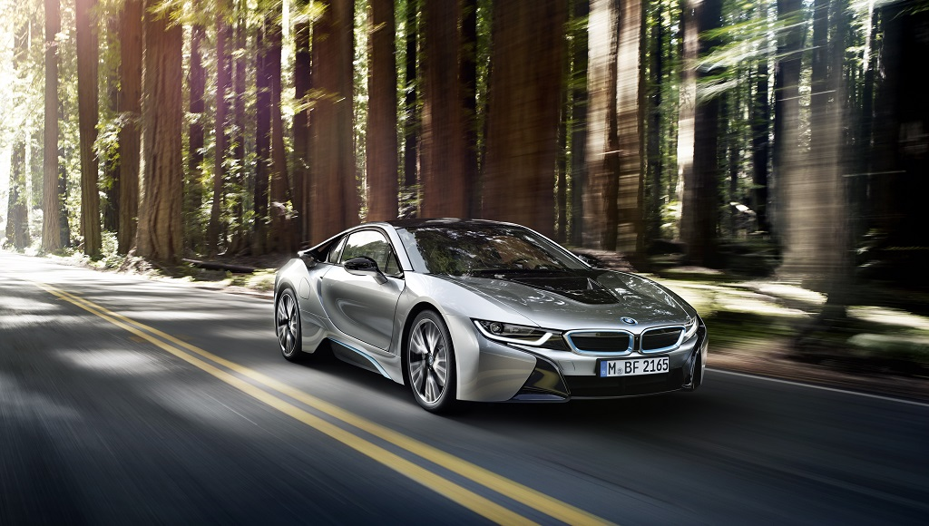 BMW i8 en movimiento