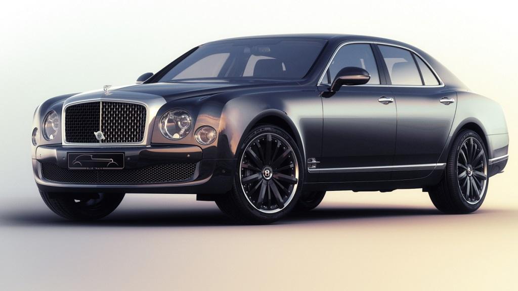 Bentley Mulsanne Speed Blue Train