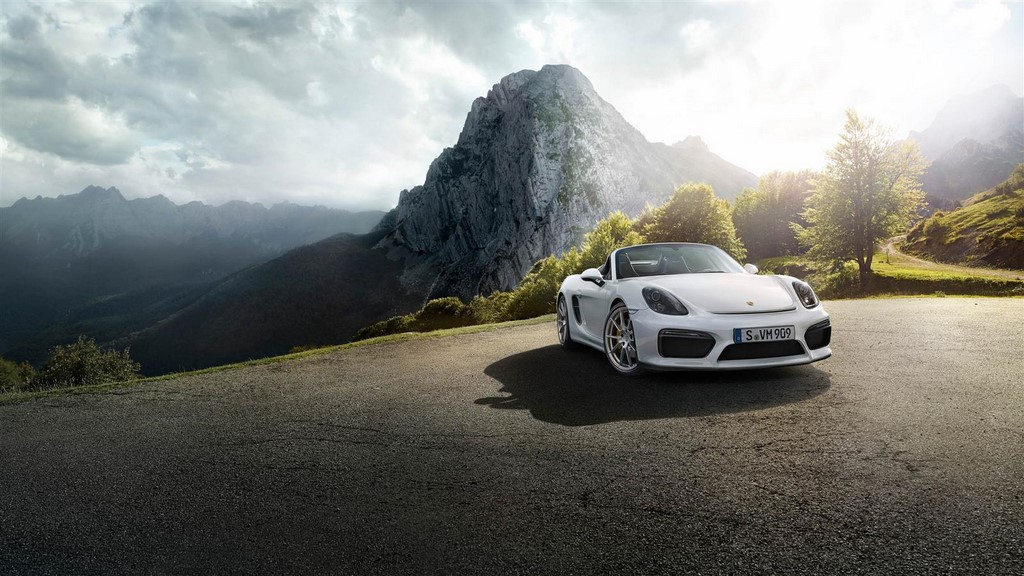 Porsche Boxster Spyder 2015 frontal 2