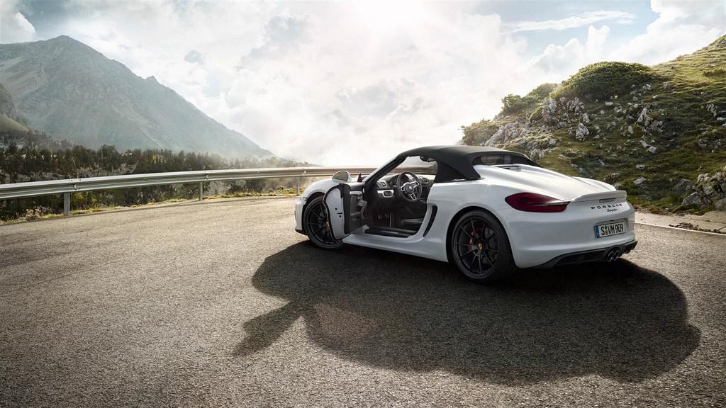 Porsche Boxster Spyder 2015 puertas abiertas 3