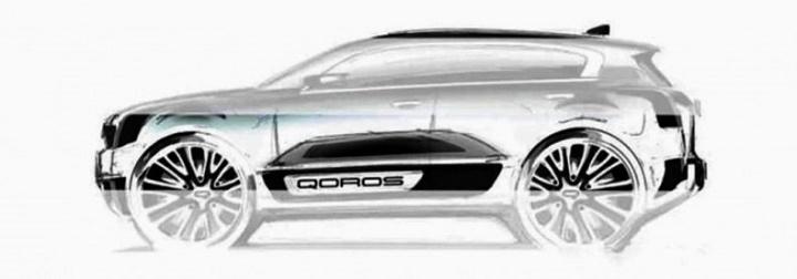 Qoros 2 SUV Concept boceto