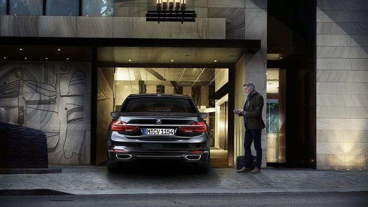 Aparcando el BMW Serie 7