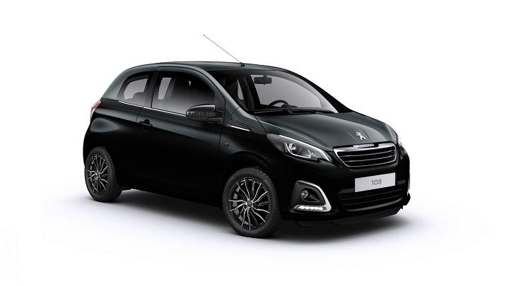 Peugeot 108 negro